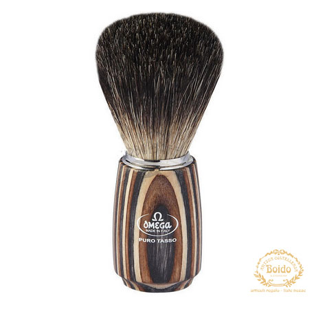 Pennello da barba in tasso 6752 Omega